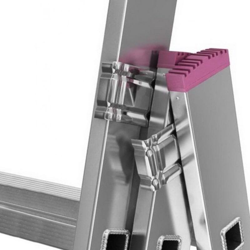 Scara multifunctionala din aluminiu Corda, 3x9 trepte