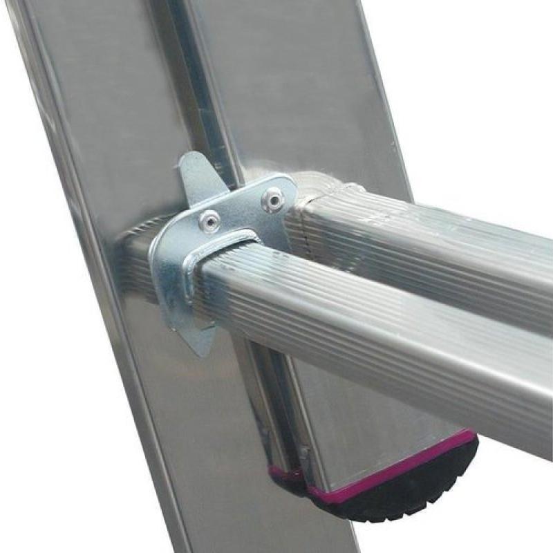 Scara culisanta din aluminiu Corda, 2x8 trepte