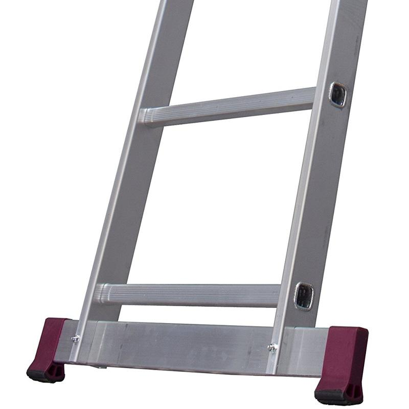 Scara culisanta din aluminiu Corda, 2x11 trepte