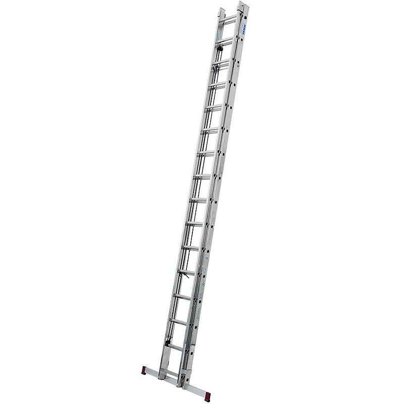 Scara culisanta cu sfoara din aluminiu Corda, 2x16 trepte