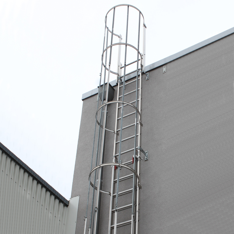 Scara KRAUSE de acces / evacuare / incendiu, aluminiu, 15,12 m