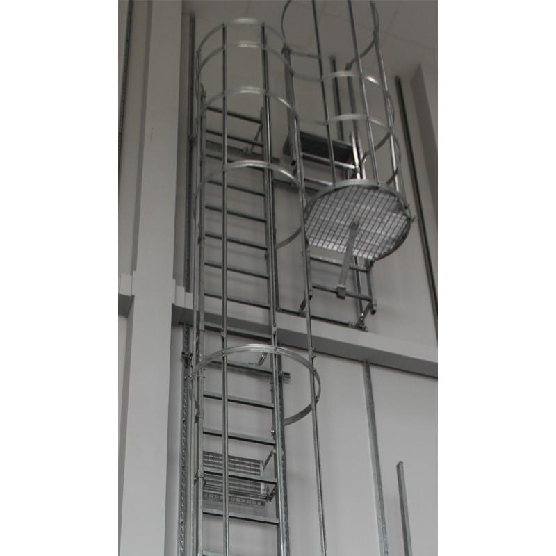 Scara KRAUSE de acces / evacuare / incendiu, otel zincat, 6,44 m