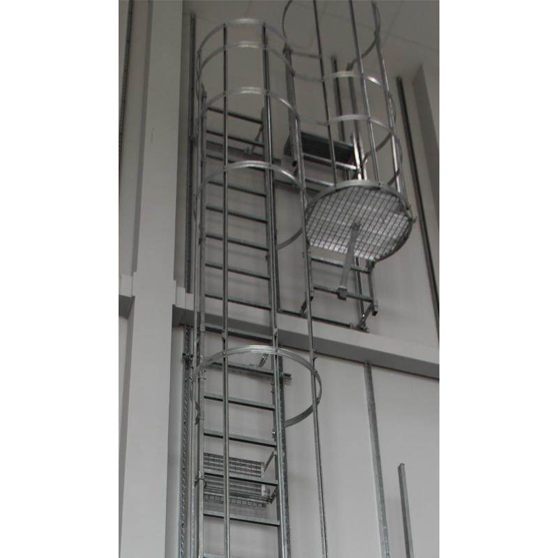 Scara KRAUSE de acces / evacuare / incendiu, otel zincat, 8,40 m