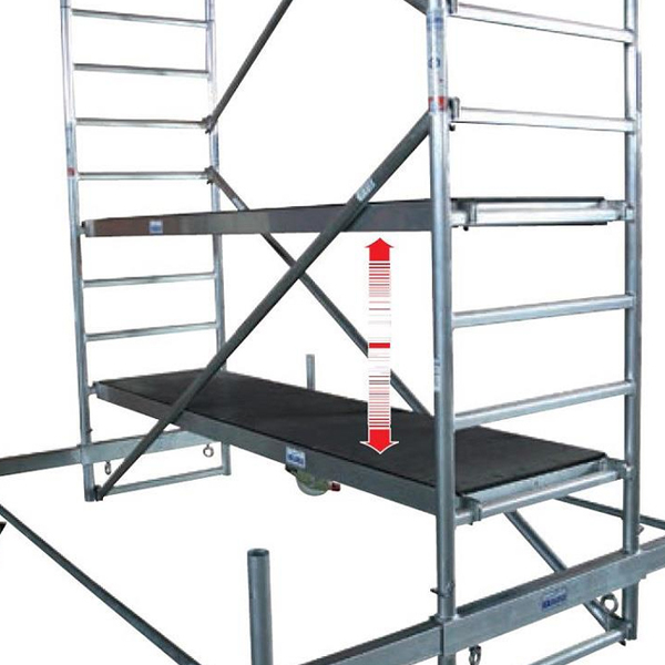 Schela mobila Stabilo S10 0,75 x 2m, aluminiu, inaltime lucru 9,4m
