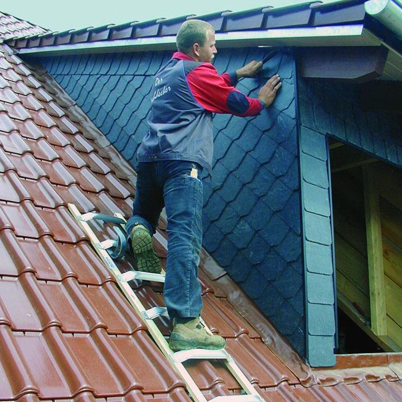Scara de acoperis, aluminiu, 16 trepte, 4,50m