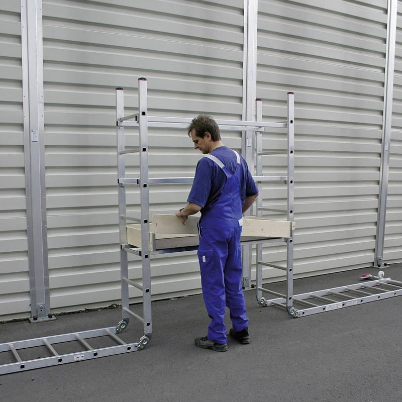 Scara / schela articulata Corda 0,6 x 1,5m, aluminiu, inaltime lucru 4,85m