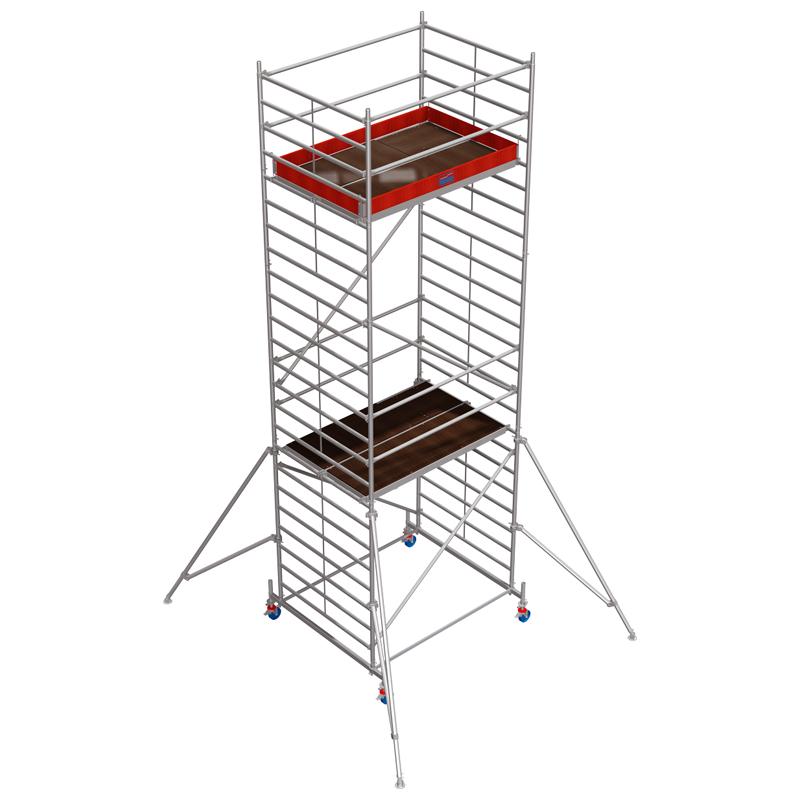Schela mobila Stabilo S50 1,5 x 2m, aluminiu, inaltime lucru 7,4m
