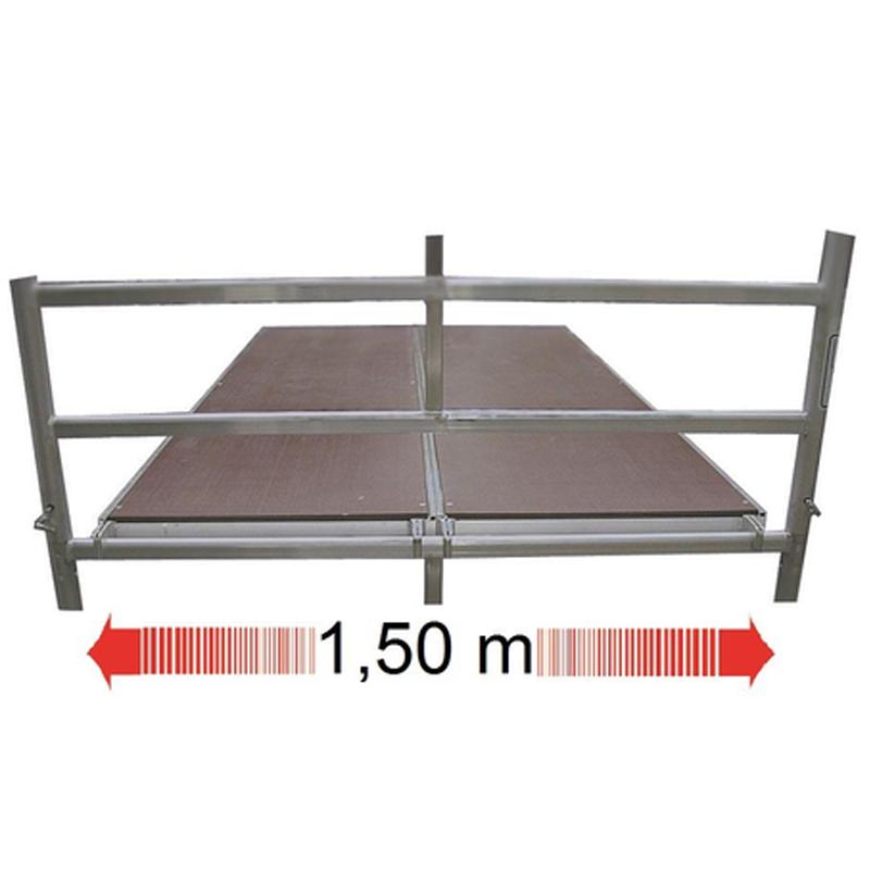 Schela mobila Stabilo S50 1,5 x 2m, aluminiu, inaltime lucru 9,4m