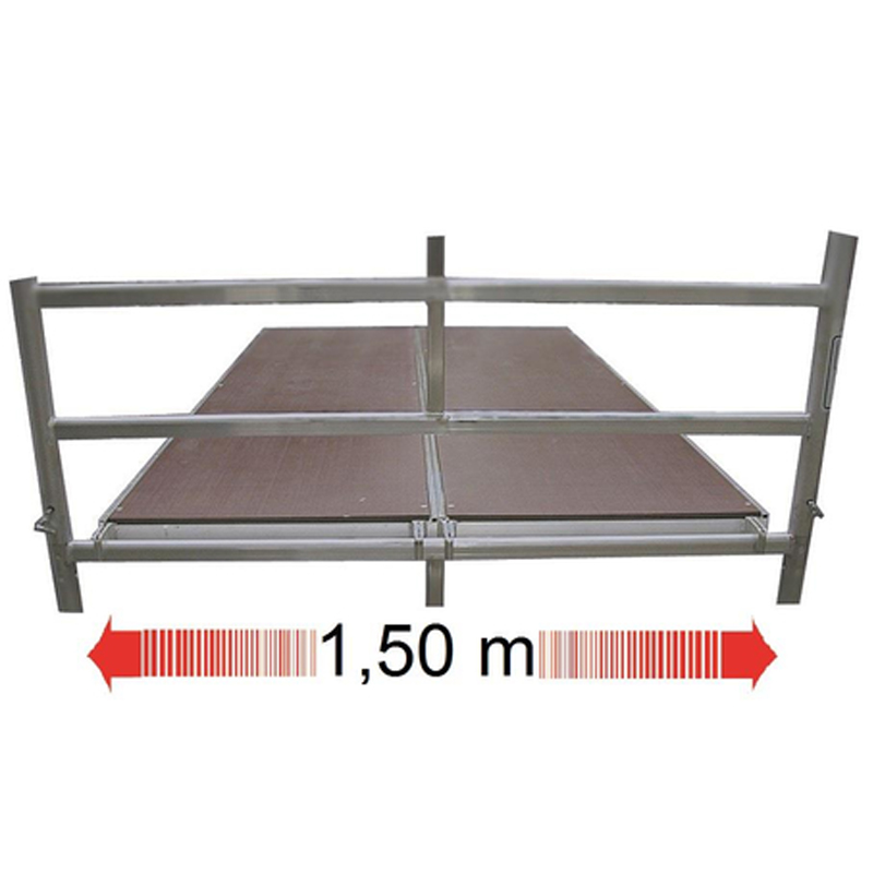 Schela mobila Stabilo S50 1,5 x 2m, aluminiu, inaltime lucru 12,4m