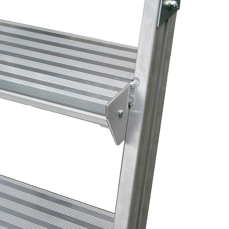 Scara cu podest mobila, cu trepte pe 2 parti (2x8 trepte)