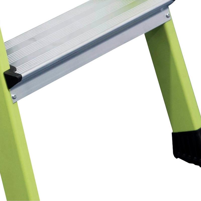 Scara mobila Monto Rolly verde dubla 2x2 trepte, cu roti retractabile automat