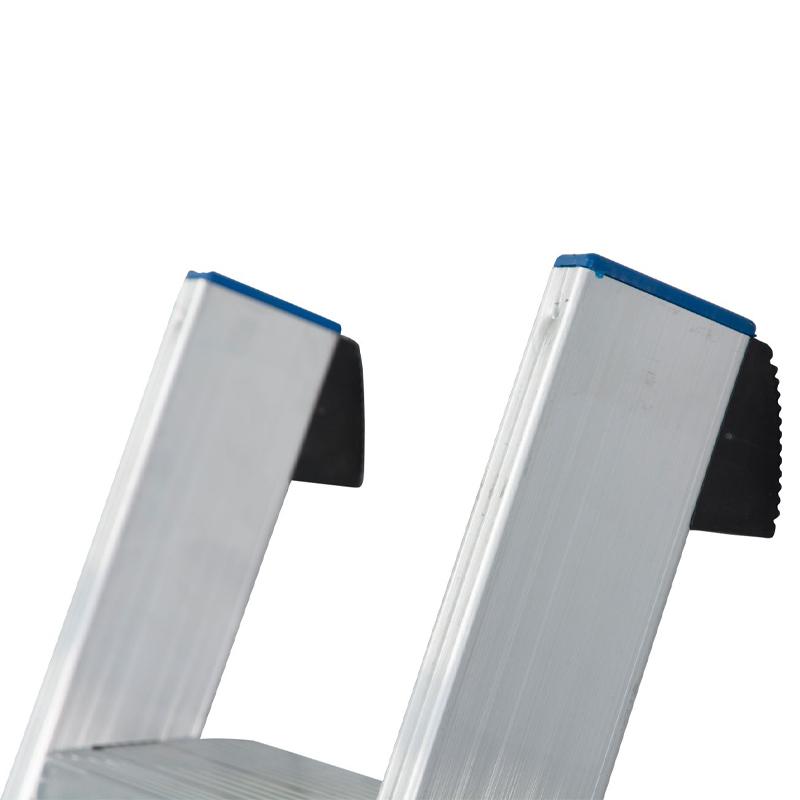 Scara simpla din aluminiu cu trepte late STABILO, 8 trepte