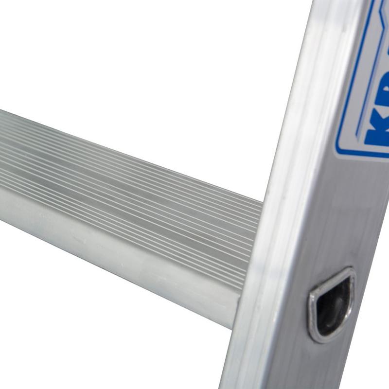 Scara simpla din aluminiu cu trepte late STABILO, 15 trepte