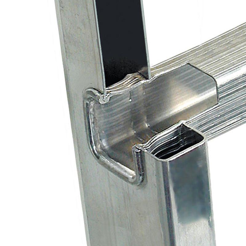 Scara simpla din aluminiu Stabilo, 9 trepte