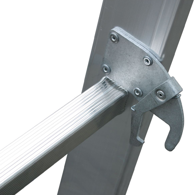 Scara culisanta din aluminiu Stabilo, 2x18 trepte