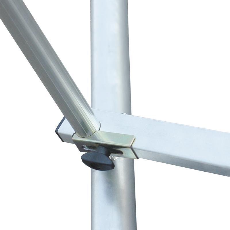Schela Protec XXL 1,2 x 2m, aluminiu, inaltime lucru 4,3m