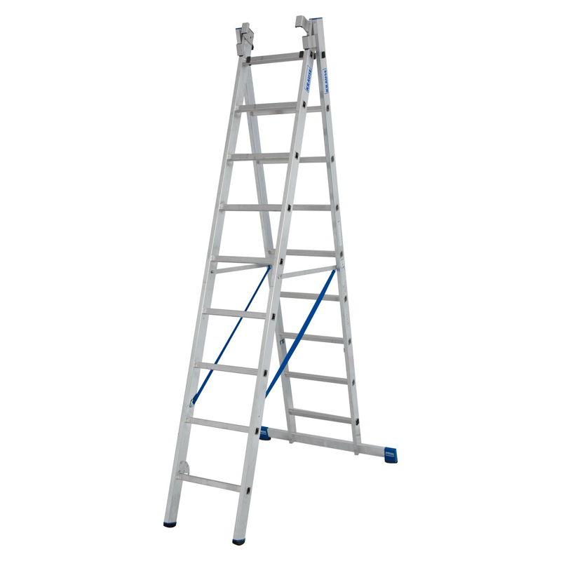 Scara multifunctionala din aluminiu Stabilo, 3x9 trepte