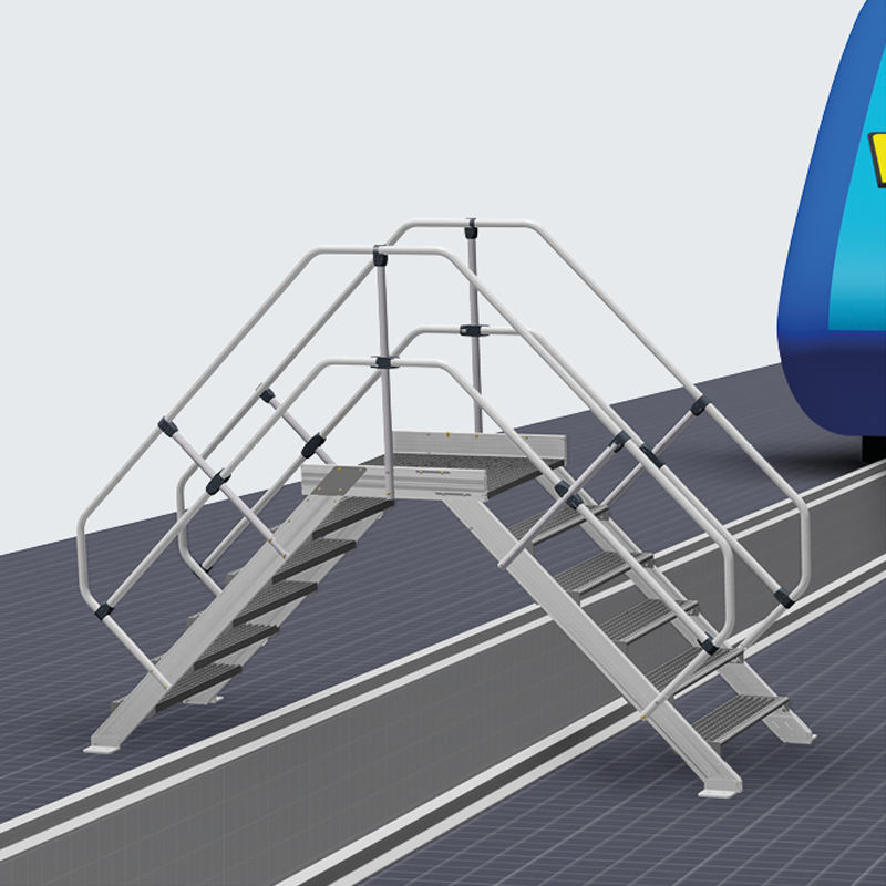 Treceri la nivel mobile - solutii de acces din aluminiu pentru vehicule feroviare si comerciale