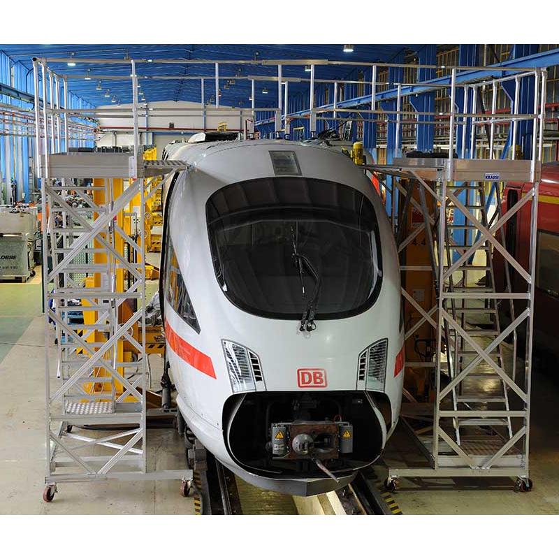 Platforme mobile de lucru pentru acoperis - solutii de acces din aluminiu pentru vehicule feroviare si comerciale