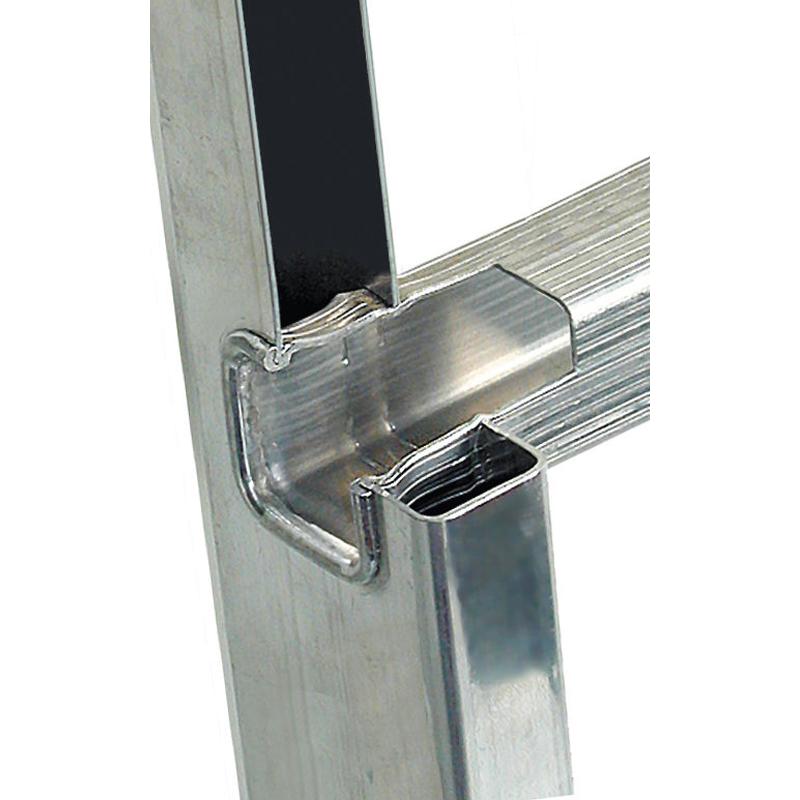 Scara culisanta cu sfoara, din aluminiu Stabilo 2x15 trepte