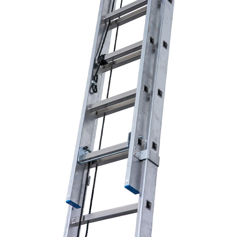 Scara culisanta cu sfoara, din aluminiu Stabilo 2x18 trepte