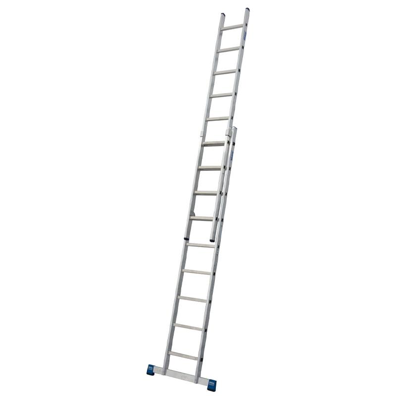 Scara culisanta din aluminiu Stabilo, 2x9 trepte