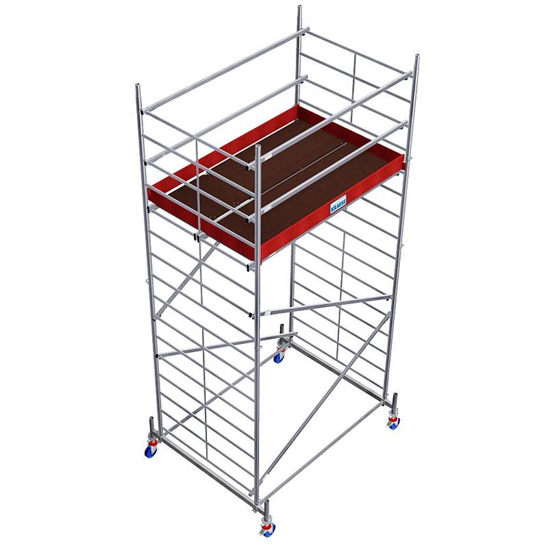 Schela Protec XXL 1,2 x 2m, aluminiu, inaltime lucru 5,3m