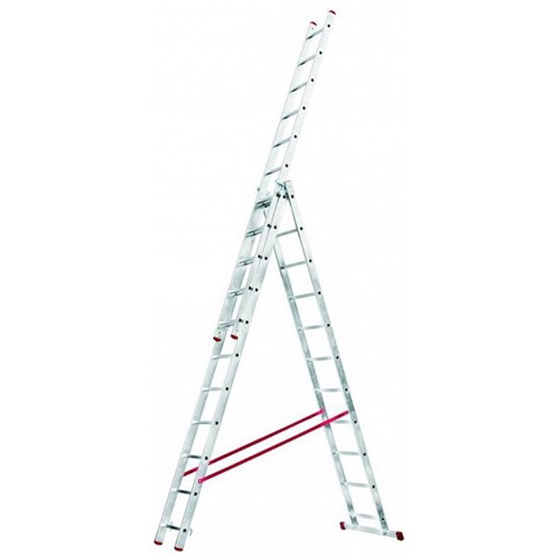 Scara multifunctionala din aluminiu Corda, 3x11 trepte
