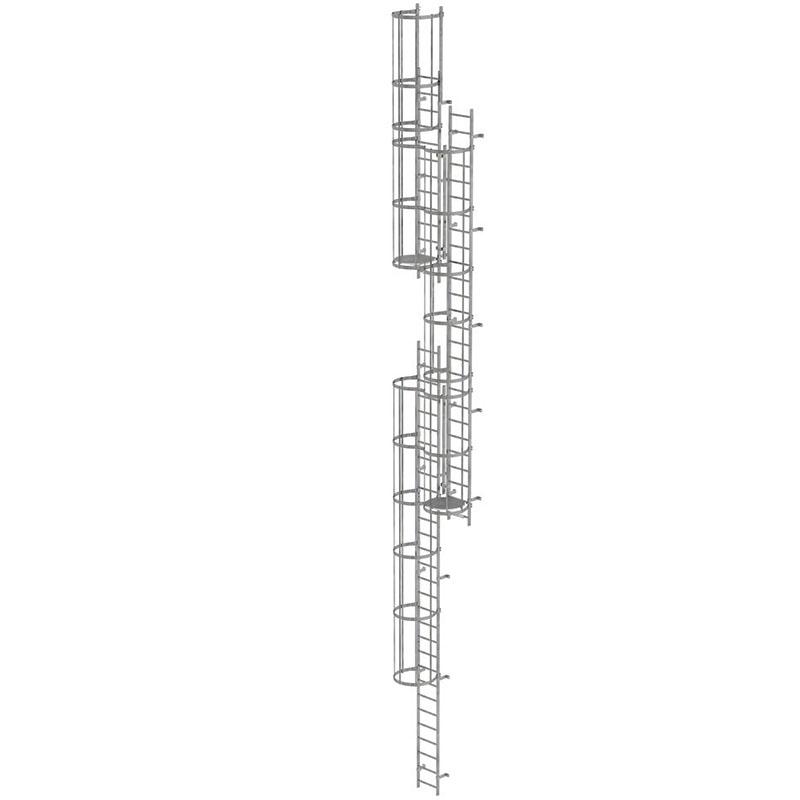 Scara KRAUSE de acces / evacuare / incendiu, otel zincat, 15,12 m