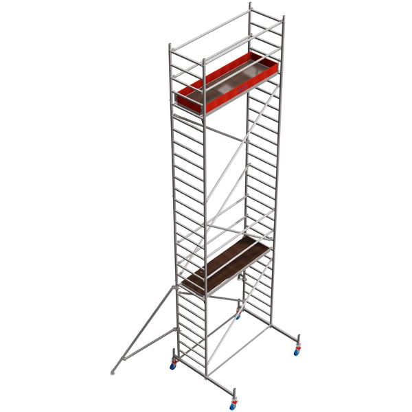 Schela mobila Stabilo S10 0,75 x 2m, aluminiu, inaltime lucru 8,4m