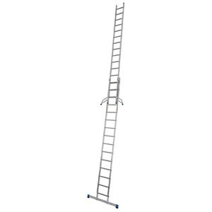 Scara culisanta din aluminiu Stabilo, 2x15 trepte