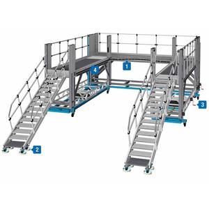 Platforme de lucru frontale - solutii de acces din aluminiu pentru vehicule feroviare si comerciale