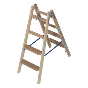 Scara de lemn cu trepte late, 2x4 trepte