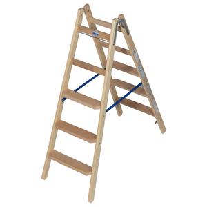 Scara de lemn cu trepte late, 2x5 trepte