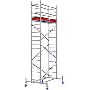 Schela Protec 0,6 x 2m, aluminiu, inaltime lucru 6,3m (0+1+6+Roti)