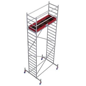 Schela mobila Stabilo S10 0,75 x 2m, aluminiu, inaltime lucru 6,4m